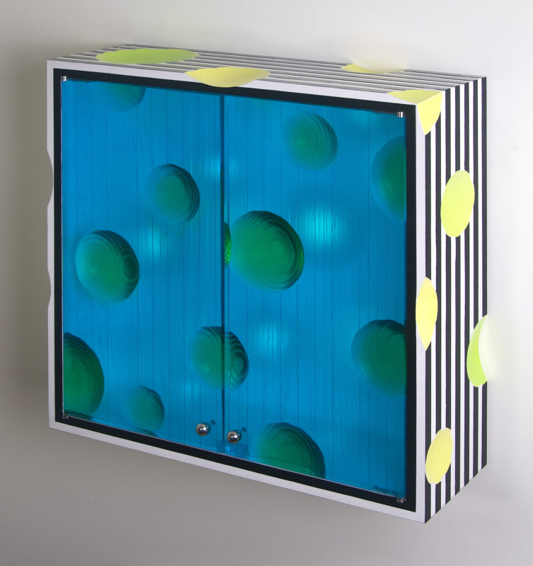 Wall Cabinet (Tranlucent Blue Doors)